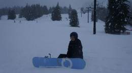 erster Tag Snowboarden